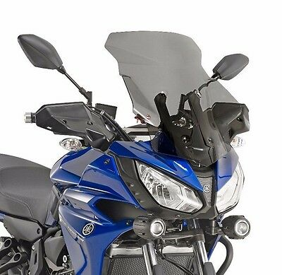 YAMAHA MT-07 TRACER SCREEN GIVI D2130S Smoked 12 Cm TALLER Windscreen Windshield • 69.87£