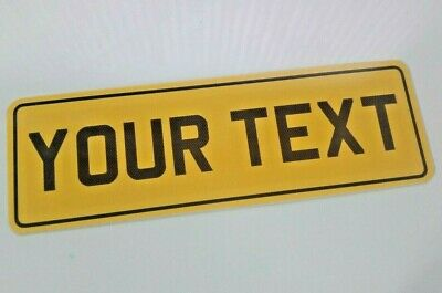 7x3 Yellow Carbon Text + Border Motorcycle NOT Number Plate Bike Flexi • 8.98£
