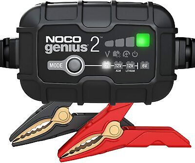 Noco Genius 2 UK  Motorcycle Battery Charger 6V 12v 2A Acid Gel Lithium • 54.95£