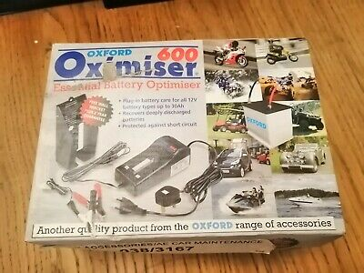 Oxford Oximiser 600 Trickle Motorcycle Motorbike Battery Charger 12v • 8.20£