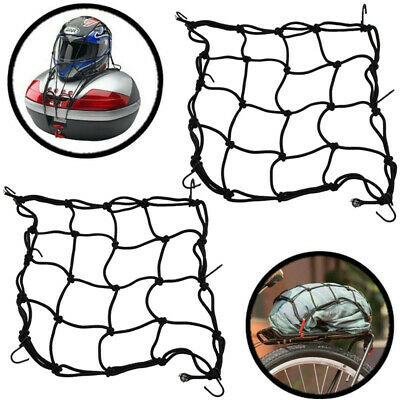 2 Pack Heavy Duty Motorcycle Elasticated Bungee Luggage Cargo Net Black 30x30cm • 7.59£