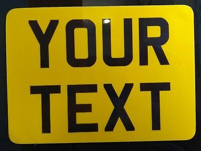 9x7 Yellow Kids Text Age Motorcycle NOT Number Plate Bike Metal Aluminium • 7.98£