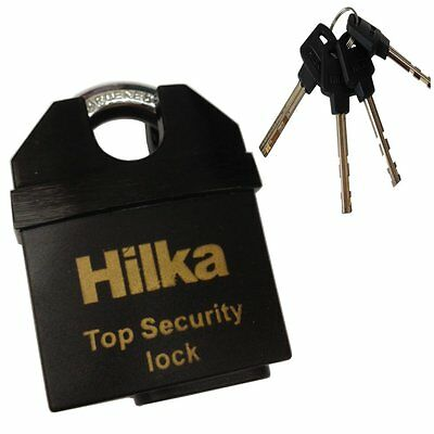 Hilka 65mm All Weather Security Padlock With 4 Keys 71800065 • 11.45£