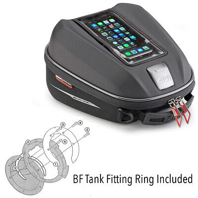 Givi ST602 Tanklock Tank Bag + BMW R1200GS (2013-18) R1150R (01-06) Fitting Ring • 89.99£