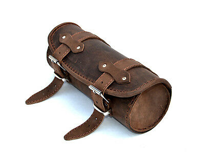 Top Brown Leather Pouch Tool Roll Bag Yamaha Dragstar Vstar Xvs 650 1100 Xv 750 • 39.95£