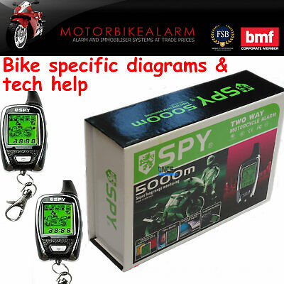 Spy 5000 Motorbike Motorcycle Alarm & Immobiliser 2 Way Lcd Pager Remote Start • 59.99£