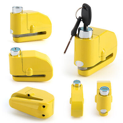 Anti Theft Yellow Motorcycle Motorbike Bike Disc Lock Alarm High Quality • 10.25£