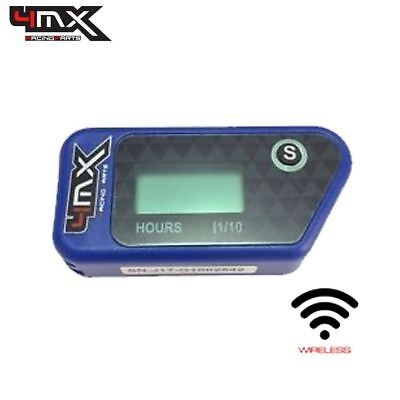 4MX Blue Wireless Motorcycle Engine Vibration Hour Meter To Fit KTM 125 • 29.45£