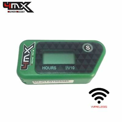 4MX Green Wireless Motorcycle Engine Vibration Hour Meter To Fit Kawasaki AE80 • 29.45£