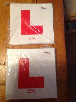 Learner L Plates For Motorcycle Or Scooter Rigid & Sticky Motorbike L Plate Set • 3.95£