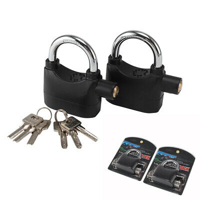 2XSecurity Motorbike Anti Theft Alarm Lock Motion Sensor Bike Padlock Waterproof • 8.59£