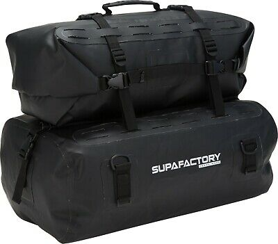 Supafactory Impervius 66L Cargo & Dual Roll Bag Kit For Motorcycles & Motorbikes • 49.99£