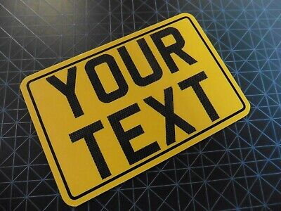 6x4 + CARBON + Border Yellow Kids Text Age Motorcycle NOT Number Plate Metal  • 8.98£