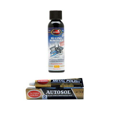 Autosol Bluing Remover + Original Metal Polish - Exhaust Tips, Cars, Motorcycle • 21.95£