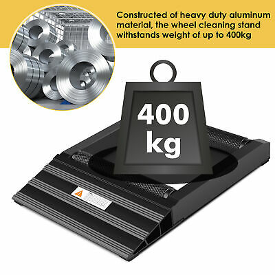 400KG Heavy Duty Motorcycle Bike Tyre Wheel Spinner Chain Cleaning Roller/Stand • 24.89£