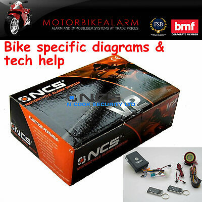Ncs V2 Motorbike Bike Motorcycle Alarm & Immobiliser Remote Control Start • 29.99£