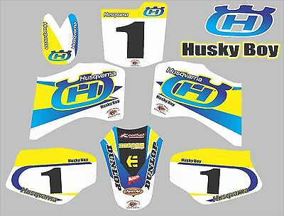 HUSKY BOY 50 Graphics Decals BOYS SENIOR 50 Laminated Stickers  NAME & NUMBER • 42£