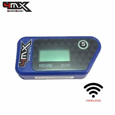4MX Blue Wireless Motorcycle Engine Vibration Hour Meter To Fit Yamaha YZ250 • 29.45£