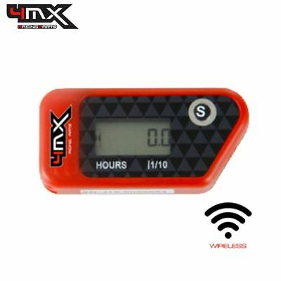 4MX Red Wireless Motorcycle Engine Vibration Hour Meter To Fit Aprilia 750 • 29.45£