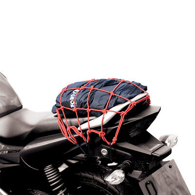Oxford Strong Elasticated Motorbike Motorcycle Cargo Net Luggage Pack Red OX664 • 11.12£