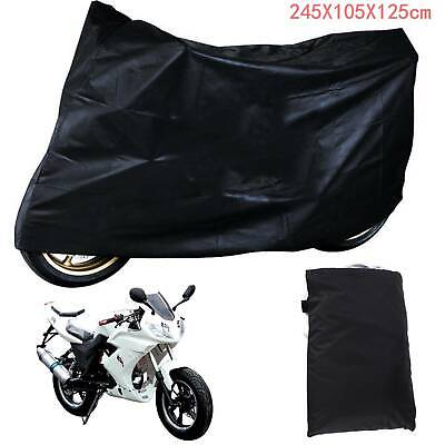 Motorcycle Waterproof Outdoor Vented Motor Bike Scooter Dust Rain Cover Large XL • 7.99£