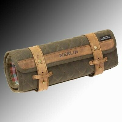 Merlin Chaplow Waxed Cotton Motorcyclists Tool Roll Waxed Cotton Olive • 79.99£