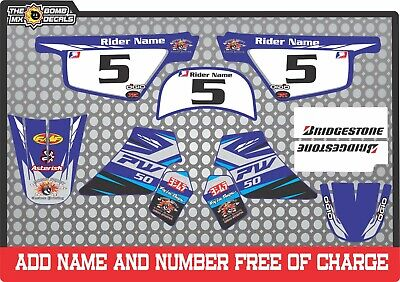 Pw50 Decals Graphics  Pw 50 Personal Peewee Laminated Motocross Factory Blue Bk • 28£