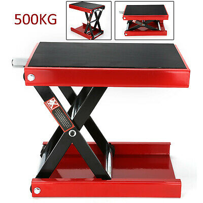 Perfect 500KG  Motorcycle Table Bench Workshop Scissor Lift Jack Stand Paddock • 42.99£