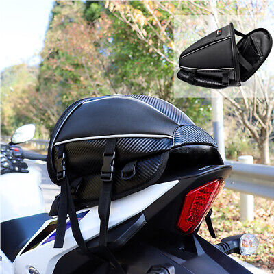 Motorcycle Tail Bag Motorbike Seat Bag Waterproof Saddlebags Luggage Backpack • 17.89£