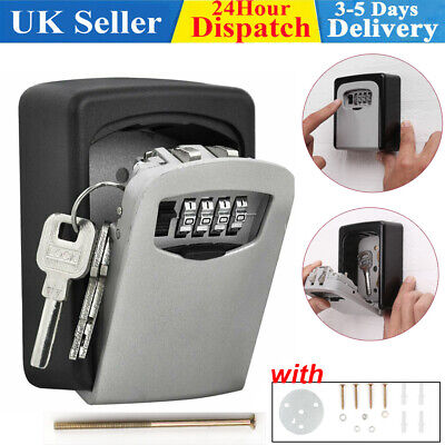 Outdoor Wall Mounted Safe Key Box With Lock & Waterproof Cover Home/car/keys New • 10.98£