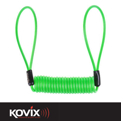 Kovix Fluo Green Hi Vis Disc Lock Reminder Cable Safety Device For Disc Locks • 4.99£