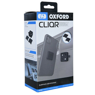 Oxford CLIQR Motorcycle Phone Holder GPS Car Phone Holder OX858 Phone Mount • 19.99£