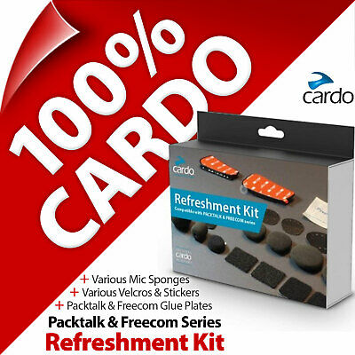 Cardo Refreshment Kit Pads Glue Plates Stickers Sponges For PACKTALK And FREECOM • 19.97£