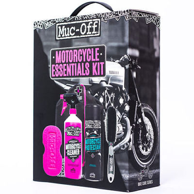 Muc Off Motorcycle Cleaner Essentials Cleaning 5 Piece Kit Men's Gift Set  • 23.95£