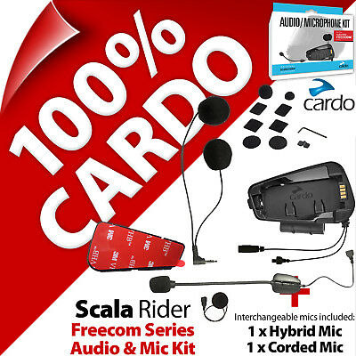 Cardo Scala Rider Audio & Mic Microphone Kit For Freecom For 1 2 4 1+ 2+ 4+ • 59.95£
