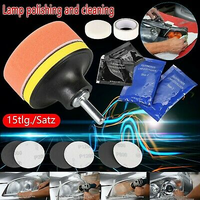 15X Headlight Restoration Kit Lens Polishing Cleaning Scratch Yellowing Remover • 11.19£