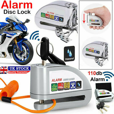 FD-MOTO Alarm Motorbike Disc Lock Brake Scooter Motorcycle Cycle Bike Security • 14.99£