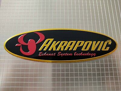 Akrapovic Oval Motorbike / Motorcycle Heatproof Exhaust Sticker / Decal • 3.20£