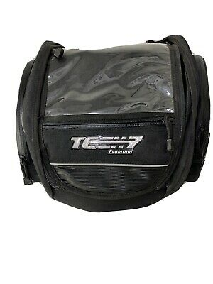 Tech-7 Evolution Magnetic Tank Bag Carry Case With Side Com. Map Com. Visor Clea • 20£