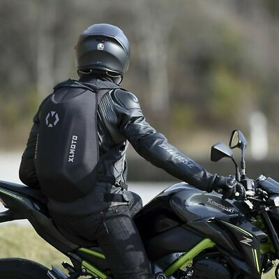 XLMoto Slipstream Motorcycle Backpack  Bag Hard Shell Water-resistant 24L Black  • 24.95£