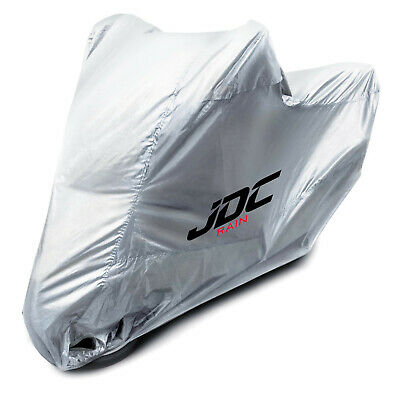 JDC Waterproof Motorcycle Cover Motorbike Breathable Vented Silver UV RAIN - L • 21.99£