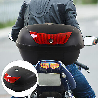 48L Motorcycle Trunk Travel Luggage Storage Box Accessory For 2 Half Helmet • 27.99£
