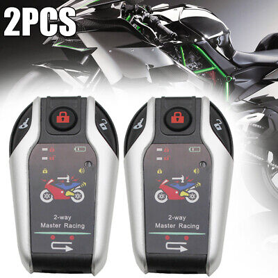 UK Two Way Motorcycle Alarm Anti-theft System Burglary Alarm Remote Engine Start • 32.23£