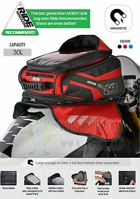 SUZUKI TL1000R Oxford Magnetic Luggage Tank Bag 30L Sat Nav Red OL246 • 99.95£