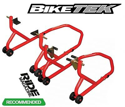Motorcycle Front And Rear Paddock Stand Set Pair • 59.99£