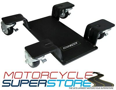 Pro Motorcycle Motorbike Centre Stand Mover 360 Garage Workshop Home Dolly • 84.99£