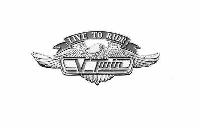 Live To Ride V-Twin Motorcycle Metal Emblem With Eagle (S) Highway Hawk 01-299 • 14.70£