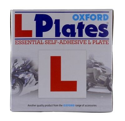 Oxford Motorcycle Scooter Essential Self Adhesive L Plates (Pair) OX172 - T • 1.99£