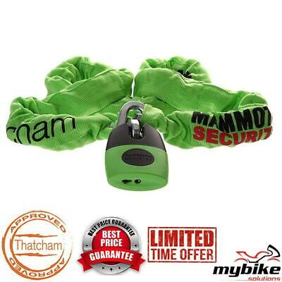 Thatcham Approved Motorcycle Security Mammoth Lock & Chain Length 1.8m - LOCM003 • 62.99£
