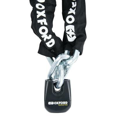 Oxford Monster Premium Motorcycle Chain & Padlock Security 2M X 14mm • 99.99£